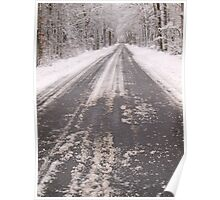 long snowy road Poster