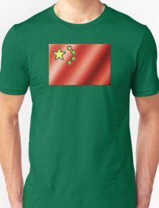 Chinese Flag - China - Metallic Unisex T-Shirt