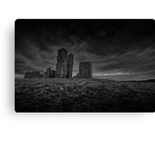 Ruined church (bw) Canvas Print