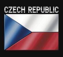 Czech Republic - Czech Flag & Text - Metallic by graphix