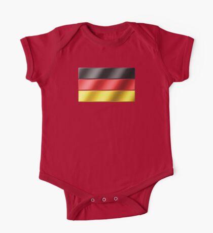 German Flag - Germany - Metallic One Piece - Short Sleeve
