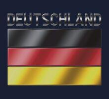 Deutschland - German Flag & Text - Metallic Kids Clothes