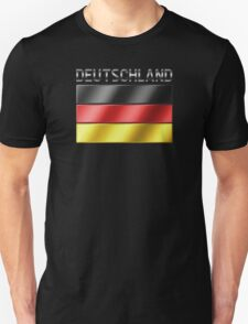 Deutschland - German Flag & Text - Metallic T-Shirt