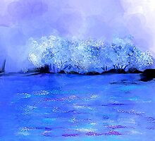 Dreamy Blue Landscape by Jessielee72