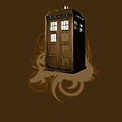 Tardis In Brown by iheartgallifrey