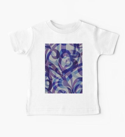 Floral Abstract  Baby Tee