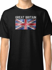 Great Britain - British Flag & Text - Metallic Classic T-Shirt