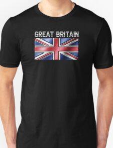 Great Britain - British Flag & Text - Metallic Unisex T-Shirt