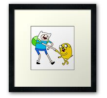 advanture time fun Framed Print
