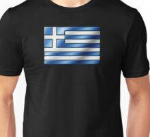 Greek Flag - Greece - Metallic Unisex T-Shirt