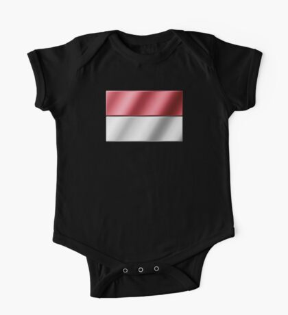 Indonesian Flag - Indonesia - Metallic One Piece - Short Sleeve