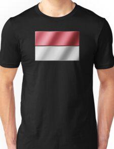 Indonesian Flag - Indonesia - Metallic Unisex T-Shirt