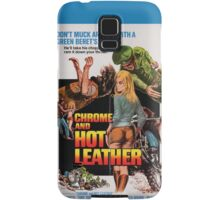 Chrome and Hot Leather (Blue) Samsung Galaxy Case/Skin