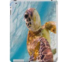 Sea turtle selfie - iPad cases and skins iPad Case/Skin