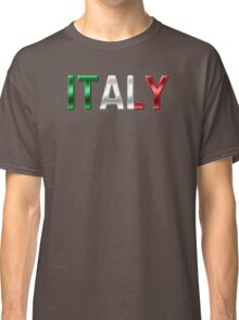 Italy - Italian Flag - Metallic Text Classic T-Shirt