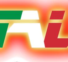 Italy - Flag Logo - Glowing Sticker