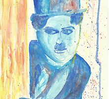 Chaplin - watercolor by fernandavilemos