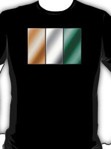 Ivorian Flag - Ivory Coast - Metallic T-Shirt