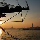 Ship Stern at Sunset in Venice by jojobob