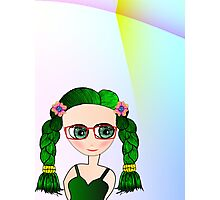 Green Eyed Geeky Doll Photographic Print