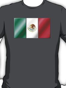 Mexican Flag - Mexico - Metallic T-Shirt