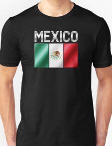 Mexico - Mexican Flag & Text - Metallic T-Shirt