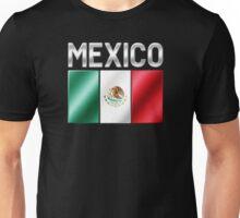 Mexico - Mexican Flag & Text - Metallic Unisex T-Shirt