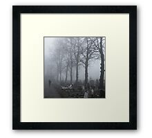 Lone Figure, Kensal Green Framed Print