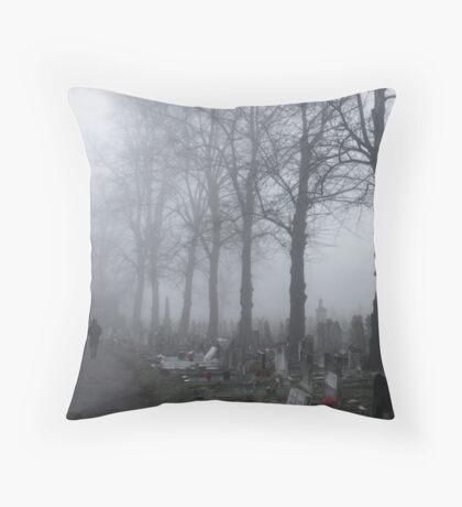 Lone Figure, Kensal Green Throw Pillow