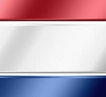 Dutch Flag - Netherlands - Metallic Sticker