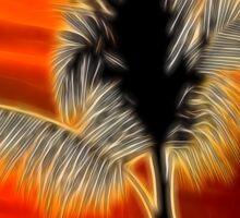 Palm Tree against the sun. Sticker