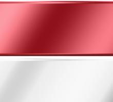 Holland - Dutch Flag & Text - Metallic Sticker