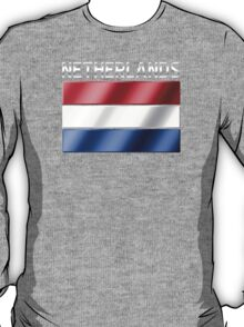 Netherlands - Dutch Flag & Text - Metallic T-Shirt