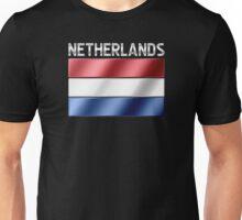 Netherlands - Dutch Flag & Text - Metallic Unisex T-Shirt