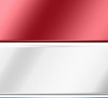 Netherlands - Dutch Flag & Text - Metallic Sticker