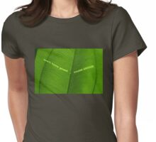 don't turn green ... think green! Womens Fitted T-Shirt