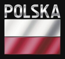 Polska - Polish Flag & Text - Metallic by graphix