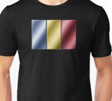 Romanian Flag - Romania - Metallic Unisex T-Shirt