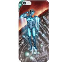 Retro Robot Painting 003 iPhone Case/Skin