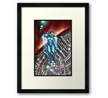 Retro Robot Painting 003 Framed Print
