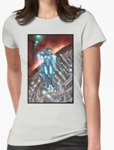 Retro Robot Painting 003 Womens Fitted T-Shirt