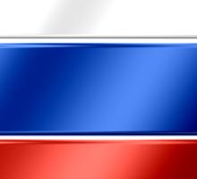 Russian Flag - Russia - Metallic Sticker
