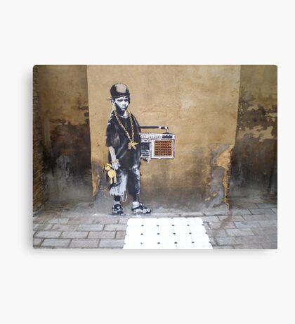 Banksy Kid Canvas Print