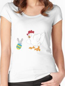 Easter Surprise?!?! Women's Fitted Scoop T-Shirt