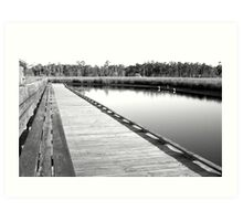 Old Fort Bayou Boardwalk Art Print