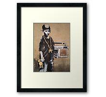 Banksy Kid Detail Framed Print
