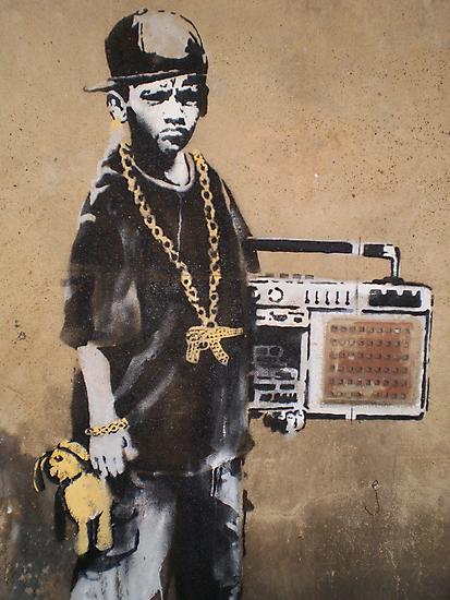 Banksy Kid Detail by runjoerun