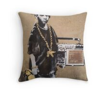 Banksy Kid Detail Throw Pillow