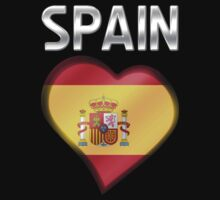 Spain - Spanish Flag Heart & Text - Metallic by graphix