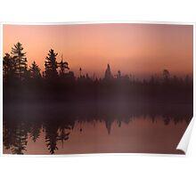 Tanker Lake Dawn Poster